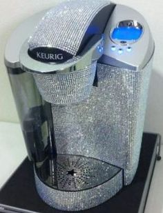 A Bling Keurig.Bling Bling for my coffee maker! Where is my Bedazzler? Fancy, Sparkles Glitter, Glitter Girl, Perfect World, Keurig, Girls Best Friend, My Dream Home, Girly Things, Just In Case