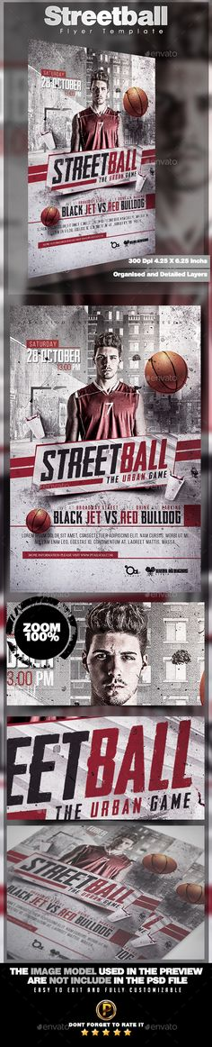 Streetball Flyer Template PSD #sport #promote Download: http://graphicriver.net/item/streetball-flyer-template/13274423?ref=ksioks