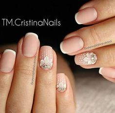 Art simple nail fitness nails, french nails и simple nails Easy Nails, Simple Nails, Bride Nails, Wedding Nails, French Nails, Love Nails, Pretty Nails, Nailed It, Nagellack Trends