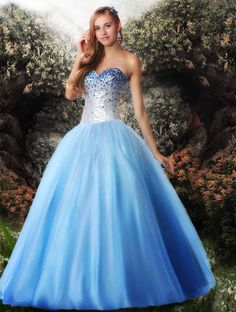 Disney Forever Enchanted Prom 35538 The fabric in this Disney Forever Enchanted prom dress is Sequins+Ombre Tulle. #prom