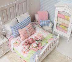 Cottage Desayuno Junta-Dollhouse miniatura a escala 1:12
