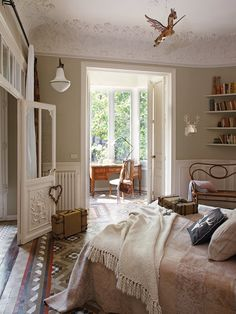 love the desk/office with lots of natural light off the bedroom