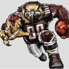 The players need the roar of the fans and nobody pumps up the crowd like your favorite team mascot! The Fathead NFL Team Mascot Wall Decal is an awesome. Nfl Football Helmets, Falcons Football, Football Art, Football Players, Sport Football, Football Season, Broncos Memes, Football Memes, Sports Flags