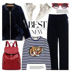 A fashion look from January 2017 featuring Gucci sweaters, Crime sneakers and Cutler and Gross sunglasses. Browse and shop related looks.