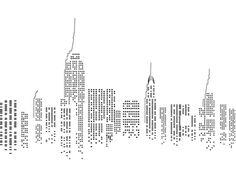 imagen skyline en espejo para transferir de new york - Buscar con Google