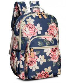 School Bookbags for Girls, Cute Floral Water-resistant Laptop Backpack College Bags Light Daypack by Leaper (Floral Dark Blue) Cute Girl Backpacks, Pretty Backpacks, Vintage Backpacks, Kids Backpacks, School Backpacks, Casual Backpacks, Outdoor Backpacks, Leather Backpacks, Leather Bags
