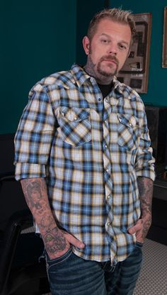 Catch Tray 'Big Daddy' Benham tattooing fresh ink on human canvases on the second season of Ink Master airing on Spike at 10/9c.