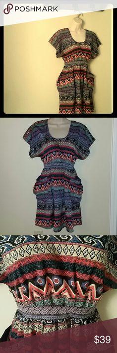 Gianni Bini Aztec tribal dress Muti color Aztec dress size xs Gianni Bini Dresses Midi