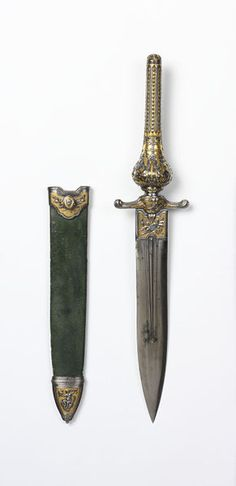 18th century Spanish Plug bayonet with sheath at the Victoria and Albert Museum, London