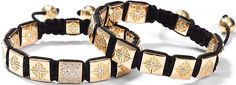 Designer Mads Kornerup created Shamballa Men's bracelets made of nylon macramé woven with gold and gemstones in a wide range of styles and become one of the hottest men's accessories for this fall.