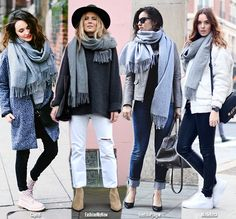 Blue is in Fashion this Year: How to Wear Your Grey Scarf