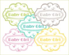 5 sweet baby girl labels green, yellow, broun, turquise and pink. Size 833x631px, 300dpi.    Your Order is being shipped via Digital Delivery!    Once your order is placed you will be redirected to Etsys secure digital delivery download portal.  This means you should receive your digital graphic order within minutes of your completed order. You wont have to wait long.    Terms of use: The copyright of these images belongs to Free Ideas. They may not be resold or distributed in any form.  We…