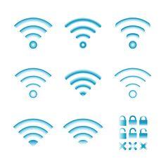 Vireless icons set by alexoakenman on @creativework247
