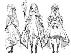 """Bravely Default"" by 吉田 明彦 Akihiko Yoshida* Character Design Sketches, Character Design Cartoon, Character Design References, Character Design Inspiration, Simple Character, Character Concept, Character Art, Concept Art, Sketch Video"