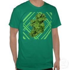 Ireland Shamrock Stripes T-Shirt #Zazzle