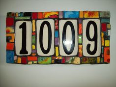 Handmade Ceramic House Number Address Tile and Plaque House Numerology, Numerology Numbers, Ceramic House Numbers, Hearth And Home, Ceramic Houses, Mosaic Glass, Stained Glass, Ceramic Artists, Furniture Projects