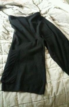 Pantalon-ou-jupe-culotte-couleur-noir-T-XL-034-Mais-il-est-ou-le-soleil-034