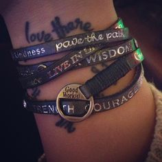 . | In loooove with #goodworks bracelets! |