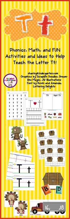 Letter Tt activities with FREEBIE phonics sheets provided