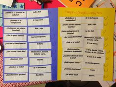 interrogativos- Fun activity with any questions Spanish Grammar, Spanish 1, Spanish Teacher, Spanish Classroom, Spanish Lessons, Teaching Spanish, Spanish Activities, Language Activities, Classroom Activities