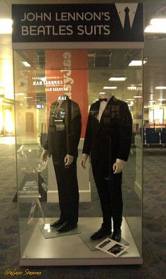 22/365 - JOHN LENNON'S SUITS - Two suits, worn by John during filming of 'A Hard Days Night' and a Beatles Gala performance. On display at John Lennon Airport, Liverpool. #Project365 #photoaday