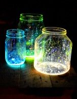 For walkway lights after it gets dark? These are super easy. All white ones or blue ones could look like fireflies ;)
