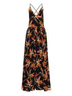Birds of paradise-print silk-georgette maxi dress | Fendi | MATCHESFASHION.COM US