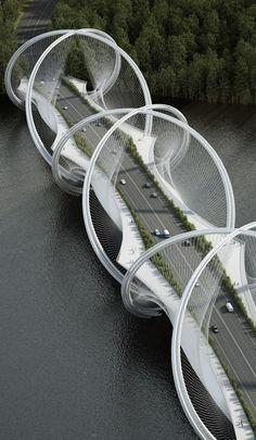 San Shan Bridge by Penda architects in Bejing, China