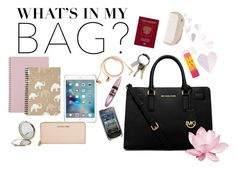 """""""What's In My Bag?"""" by eliza-redkina ❤ liked on Polyvore featuring MICHAEL Michael Kors, Nokia, CB2, Henri Bendel, Maybelline, HAY, Michael Kors, Happy Plugs, contest and WhatsInMyBag"""