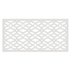 x ft. Charcoal Recycled Plastic Decorative Fence Panel Screen with Slimline - The Home Depot