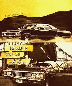 Supernatural Bunker, Supernatural Fandom, Chevrolet Impala 1967, Winchester, Dream Cars, Dads, Fan Art, Fandoms, Fathers