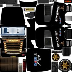 Heavy Truck, Custom Trucks, Paper Toys, Volvo, Diy And Crafts, King, Black, Maps, Model Building