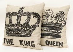 His And Hers Crown Wall Decor love, love, love the elegance of these crowns/paintings could i