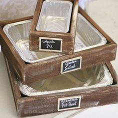 Rustic Serving Trays With Chalkboard Signs Holiday Entertaining ... | IdealPin