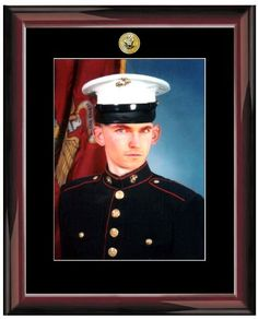 US Navy Logo 8 X 10 Portrait Picture Military Wall Black Matted Photo Frame Glossy Traditional Mahogany Wood Frame as United States Navy Military Gifts Retirement Gift and Soldier Military Frame ** Want additional info? Click on the image.
