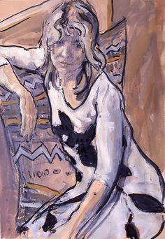 Women in Interior by Hugo Grenville British Painter ~ Blog of an Art Admirer