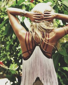 ☯☮ॐ American Hippie Bohemian Style Boho ~ Top I'm not sure id that is a tattoo or straps, but think black, black leather straps.