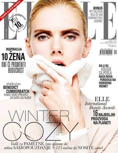 Winter cozy! Elle Serbia cover for January 2015