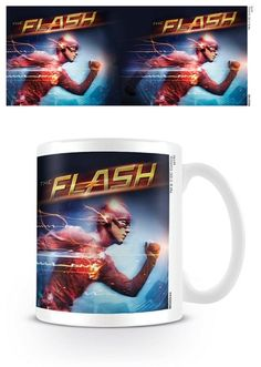 The Flash - Running - Ceramic Coffee Mug. Dishwasher and microwave safe. Capacity: ca 11oz. Official Merchandise. FREE SHIPPING