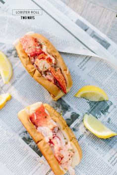 Lobster Roll Two Ways