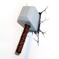 Lámpara de pared Los Vengadores. Martillo de Thor, 26cm
