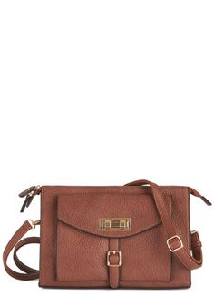 Perks and Recreation Bag. Whether youre playing on the swing set or enjoying a nighttime movie in the park, this mocha-brown shoulder bag by Melie Bianco keeps your essentials in place! #gold #prom #modcloth