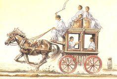 Roman horse drawn carriage ~ Tim Dowley