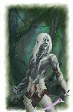 m Drow Elf Cleric bone armor underdark against lothe Deadname- Eberron Drow by fuuryoku on deviantART