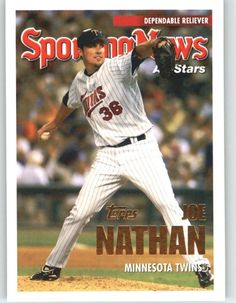 2005 Topps Update 156 Joe Nathan AS - Minnesota Twins (Sporting News ALL-Stars) (Baseball Cards) * More info could be found at the image url.
