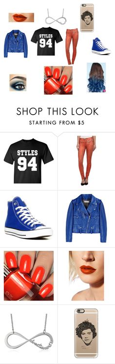 """""""Harry Styles Fan"""" by roslyn-lynch on Polyvore featuring True Religion, Converse, Golden Goose, Lime Crime and Casetify"""