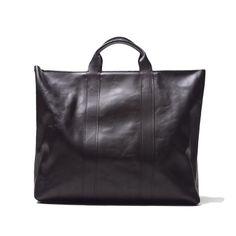 3.1 PHILLIP LIM BLACK LEATHER 31 DAY TOTE BAG (BLACK)