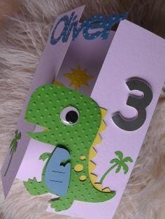 Dinosaur card  - front