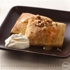 Pumpkin Ravioli with Salted Caramel Whipped Cream from Pillsbury� Baking