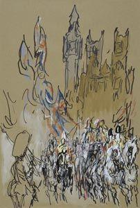 feliks topolski Postcards, Artists, Abstract, Drawings, Illustration, Painting, Home Decor, Style, Summary